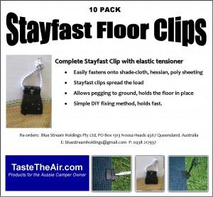 Annexe floor clips